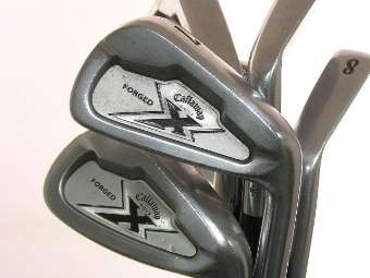 ca77a6c5027e3 Callaway X-Forged Hierros con shaft Stiff Acero Project X Rifle Flighted