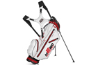 Sun Mountain 2015 H2NO Ultra-Lite Stand Bag Sort Hvid Rød + Gratis Paraply