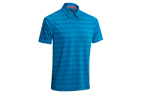 Mizuno 2015 Textured Zip Polo Brilliant Blue (L) - SALE