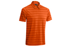 Mizuno 2015 Textured Zip Polo Tigerlilly (M) - SALE