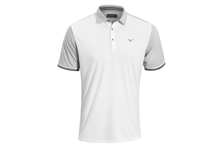 Mizuno 2016 Origami Polo White Grey (M)