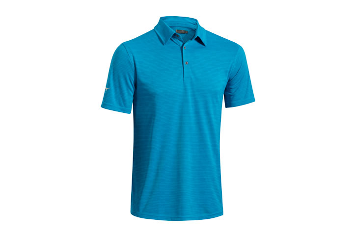 Mizuno 2016 Textured Polo Blue (L)