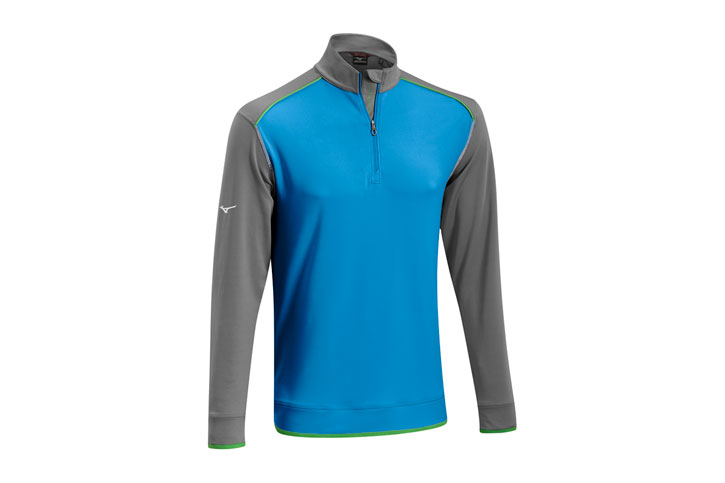 Mizuno 2016 Warmalite 1/4 Zip Sweater Blue Grey (M)
