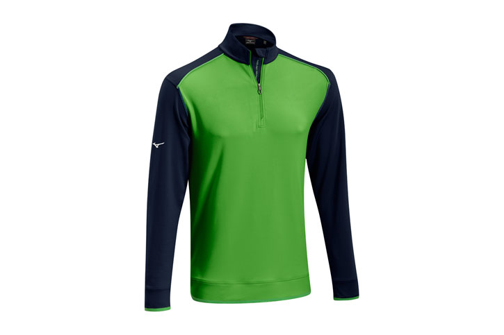 Mizuno 2016 Warmalite 1/4 Zip Sweater Green Blue (L)