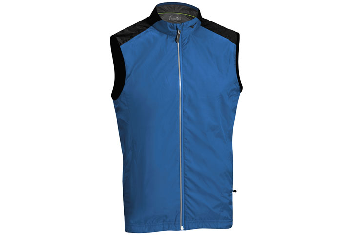 Mizuno 2016 Windproof Vest Blue Black (M)