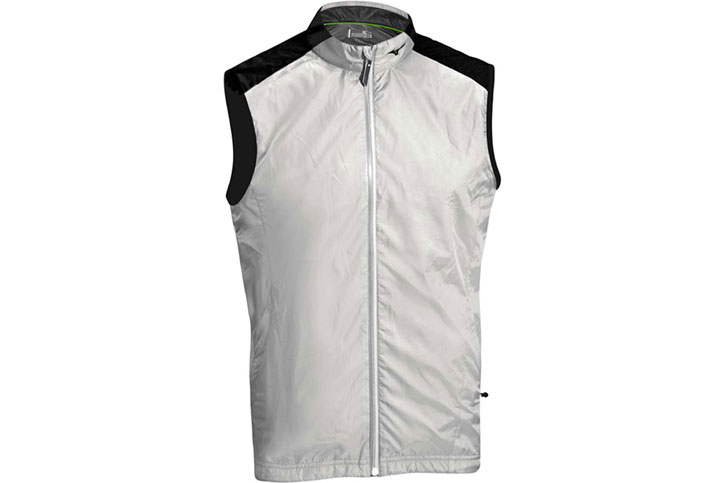Mizuno 2016 Windproof Vest Grey Black (XL)