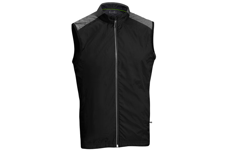 Mizuno 2016 Windproof Vest Black Grey (M)