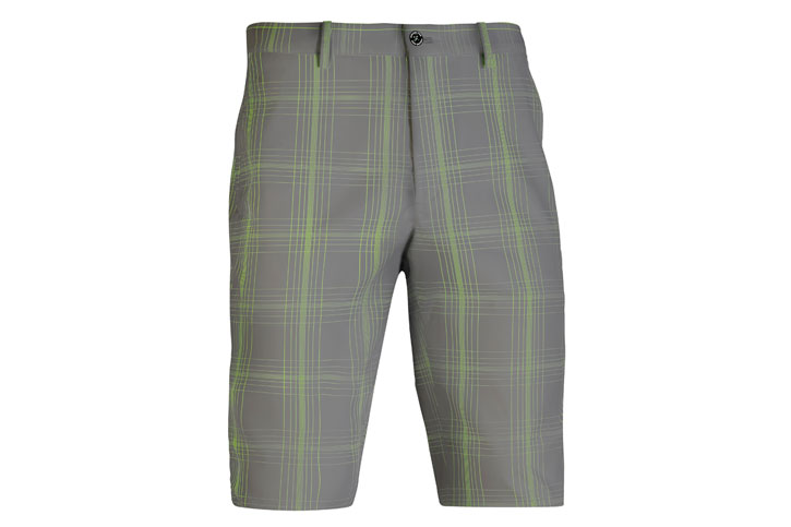 Mizuno 2016 Fineline Check Shorts Charcoal Green W32