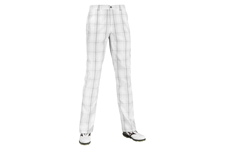 Mizuno 2016 Fineline Check Trousers White Charcoal W34 L32