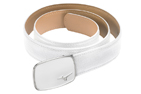 Mizuno 2015 Digital Leather Belt White