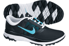Nike 2014 FI Impact Golf Shoes Black Polarized Blue (UK 4.5) - SALE - SALE