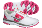 Nike 2014 FI Impact Golf Shoes White Vivid Pink (UK 4) - SALE - SALE