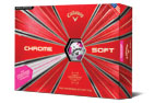 Callaway 2019 Chrome Soft Truvis Bolas de Golf Blanco Rosa 2PK (24 Bolas de Golf)
