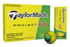 TaylorMade 2017 Project (a) Golf Balls Yellow 3PK