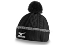 Mizuno 2015/16 Cable Knit Bobble Hat Black