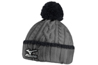 Mizuno 2015/16 Cable Knit Bobble Hat Grey Black