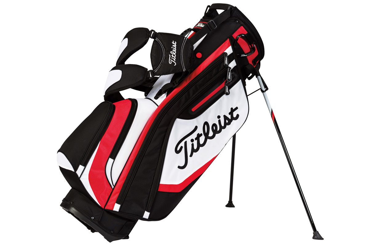 Titleist 2015 Lightweight Stand Bag Sort Hvid Rød