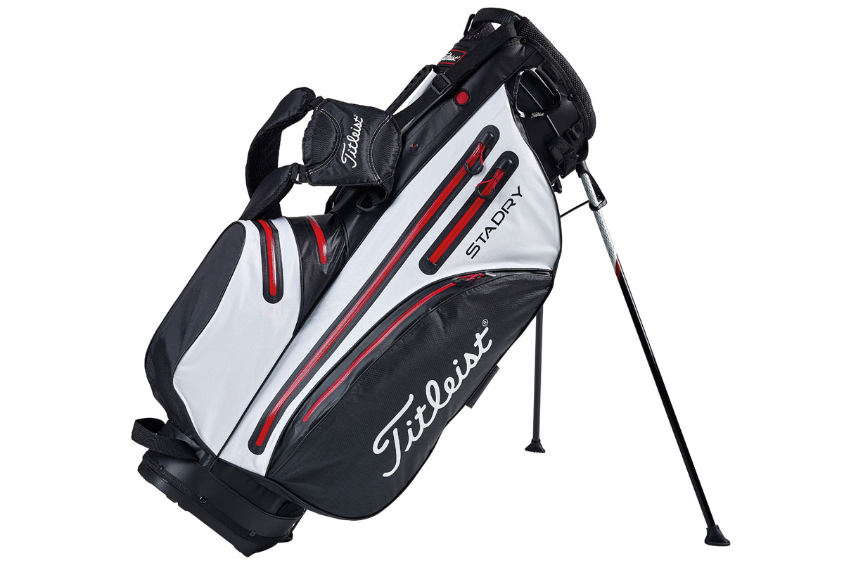 Titleist 2016 Stadry Stand Bag Black White Red