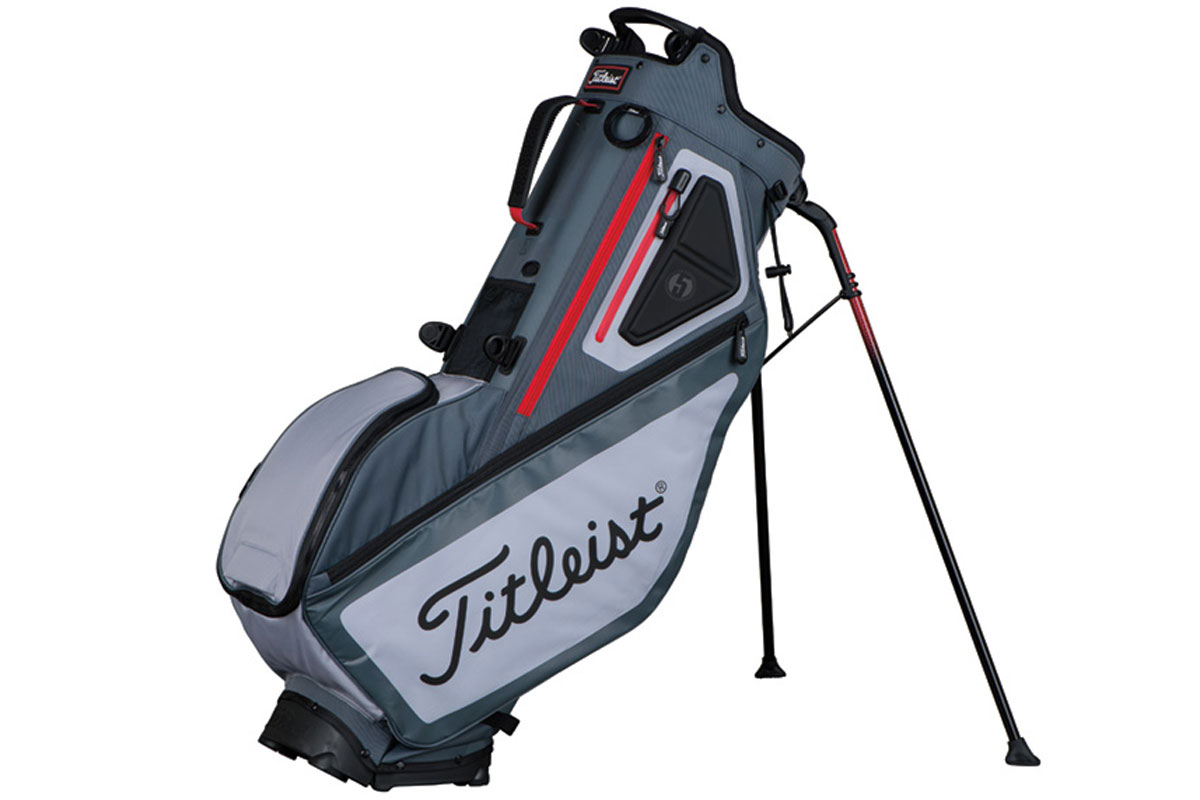 Titleist 2017 Players 5 Stand Bag Charcoal Slate Red