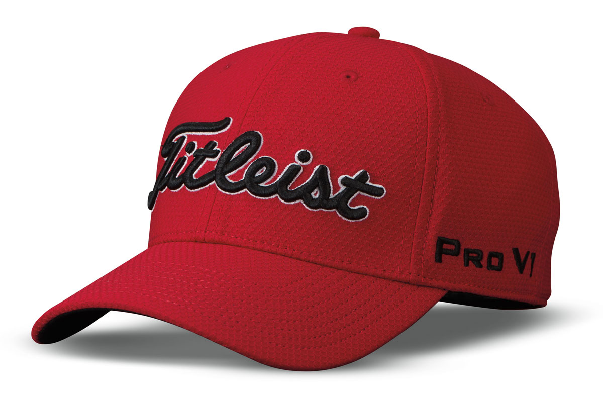 Titleist 2017 Dobby Tech Cap Red Black (S/M)