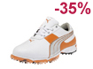Puma 2013 Spark Sport 2 Golf Shoes White Vibrant Orange UK 7
