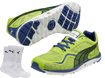 Puma 2014 FAAS Lite Mesh Chaussures Golf Vert UK 10 with FREE Chaussettes