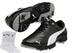 Puma 2014 Fusion Sport Golf Shoes Black UK 11 with FREE Socks