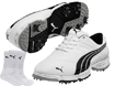 Puma 2014 Fusion Sport Golf Shoes White Black UK 11 with FREE Socks