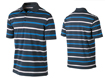 Nike SS2013 Stretch UV Stripe Polo Squadron Blue L