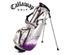 Callaway 2013 X Series Midi Pencil Stand Bag Purple with FREE Callaway Towel