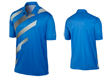 Nike SS2013 Fashion Stripe Polo Photo Blue L