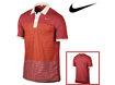 Nike SS2012 Sport Stripe Pocket Polo Red Sail M