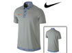 Nike SS2013 Sport Gingham Novelty Polo Grey Heather M