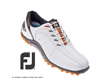 FootJoy 2013 Sport Spikeless Golf Shoes White Orange UK 9.5