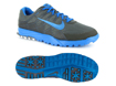Nike 2013 Air Range WP II Golf Shoe Dark Grey Photo Blue UK 10