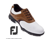 FootJoy 2014 Contour Golf Shoes White Brown UK 10.5