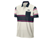 Nike AW13 Sport Novelty Stripe Polo Sail Team Orange L