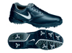 Nike 2014 Heritage III Golf Shoes Black UK 10.5