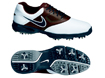 Nike 2014 Heritage III Golf Shoes White Brown UK 9.5