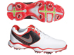 Nike 2013 Lunar Control II Golf Shoe White Hyper Red UK 10
