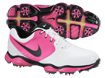 Nike 2014 Lunar Control II Golf Shoes White Vivid Pink UK 8.5