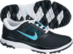Nike 2014 FI Impact Golf Shoes Black Polarized Blue UK 7