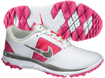 Nike 2014 FI Impact Golf Shoes White Vivid Pink UK 7