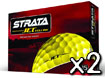 Strata 2013 Jet Golf Balls Yellow x2