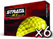 Strata 2013 Jet Golf Balls Yellow x6