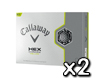 Callaway 2013 HEX Chrome Jaune Balles de Golf x2