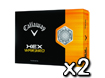 Callaway 2013 HEX Warbird Golf Balls x2