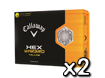 Callaway 2013 HEX Warbird Yellow Golf Balls x2