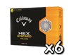 Callaway 2013 HEX Warbird Yellow Golf Balls x6