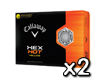 Callaway 2013 HEX Hot Yellow Golf Balls x2